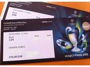 UEFA CHAMPIONS LEAGUE FINAL 2012 TICKET FOR SALE
